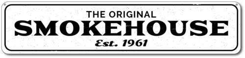 Personalized Original Smokehouse Established Date BBQ Kitchen Sign ENSA1001824