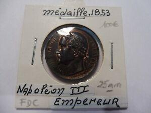 Ancienne Medaille De Mariage NapolÉon 1853 - Splendide - Sous Étuis !