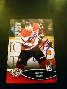 2012-13-ITG-Heroes-amp-Prospects-Cody-Ceci-72-Auto-Autographed-Signed-Card