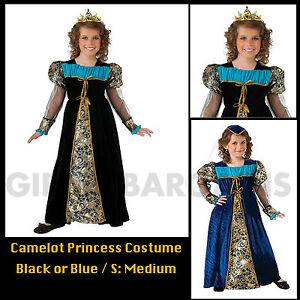 Camelot-Princess-Queen-Royal-Book-Week-Costume-Girls-S-M-Medieval-Renaissance
