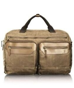 Genuine-Tumi-T-Tech-Forge-Rum-Canvas-amp-Leather-Moore-Soft-Carry-On-RRP-549-95