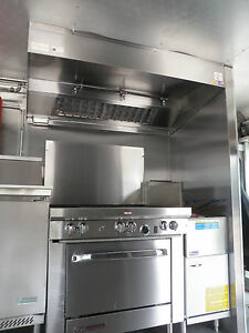 4 FT TYPE l COMMERCIAL KITCHEN EXHAUST HOOD / BLOWER / CURB ...