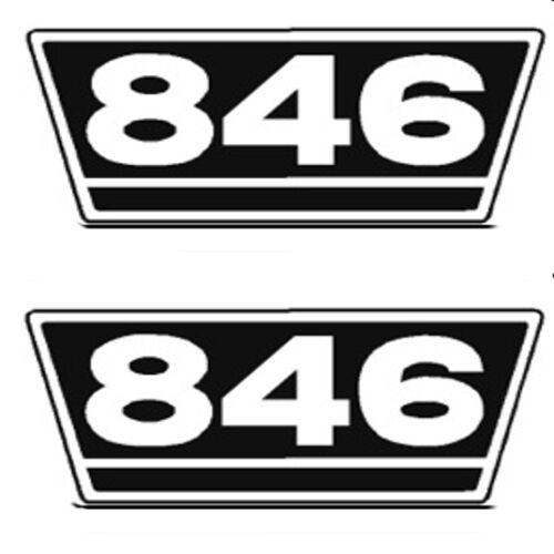 IHC Traktor Aufkleber 2x Typenaufkleber 846 Logo Emblem Sticker Label ca.21x9,5