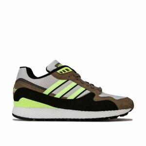 Hommes-Adidas-Originals-Ultra-Tech-Lacets-Respirant-Baskets-en-Blanc