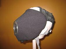 SCBA Blackout Cover, Scott AV2000, BO2-100, Black polyester fleece w/bungi.