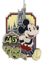 Walt Disney World Magic Kingdom 45th Anniversary Mickey Mouse Pin On Card