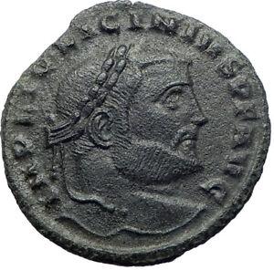 LICINIUS-I-Constantine-I-enemy-312AD-Ancient-Roman-Coin-ZEUS-Jupiter-i73282