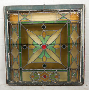 Details About Vintage Stained Gl Window Panel 3269 Nj