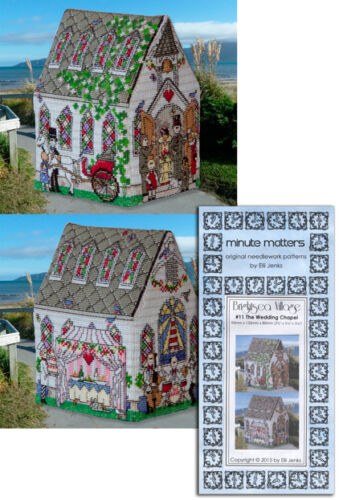Cross Stitch Wedding Chapel Pattern 3D BrightSea Village #11 by Elli Jenks