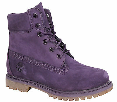 Timberland AF 6 Inches Premium Womens Boots Leather Mono Purple Lace Up A12M4