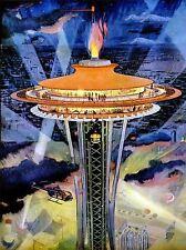 DIPINTI Cityscape Seattle Space Needle Riflettore FIAMMA lv3002