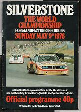 1976 SILVERSTONE 6 HOURS WCM PROGRAMME BMW 3.5 CSL PORSCHE 935 934 WALKINSHAW