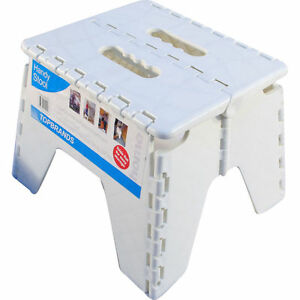 Handy Flat Folding Step Foot Stool Easy Fold Away Storage