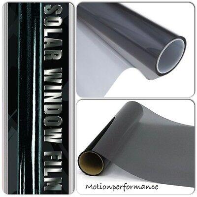 """30"""" x 60"""" Dark Smoke Black Car & Home Solar Glass Window Safety Tint Film Kit"""