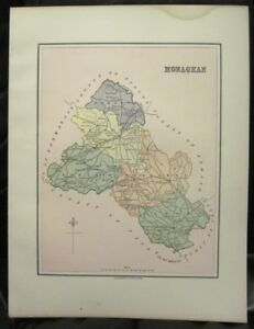 Map Of Ireland Midlands.Irish Map County Monaghan Baronies Ireland Midlands Border Thomas