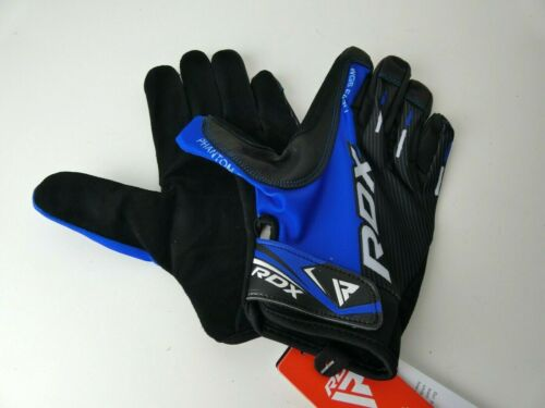 RDX Weight Lifting Gloves Gym Workout Training Fitness Cycling Large Blue 0LV