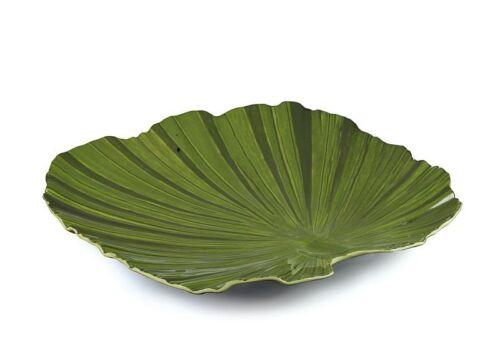 Melamin Palmblattschale NATURAL COLLECTION Grün Quadratisch 27 cm Gastlando