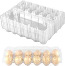 Plastic Egg Cartons Bulk Clear Chicken Egg Tray Holder For Family Farm 24 Pack