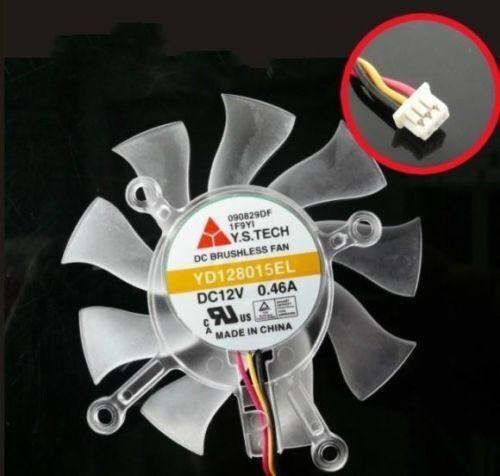 NOUVEAU ASUS haute définition 4870 GTS 250 Carte Vidéo remplacement 75 mm Ventilateur YD128015EL M612 QL