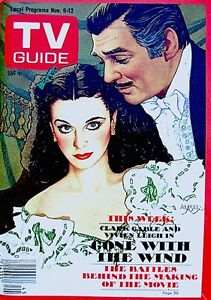 TV-Guide-1976-Gone-With-The-Wind-Clark-Gable-Vivien-Leigh-Amsel-Issue-1232-NM-M