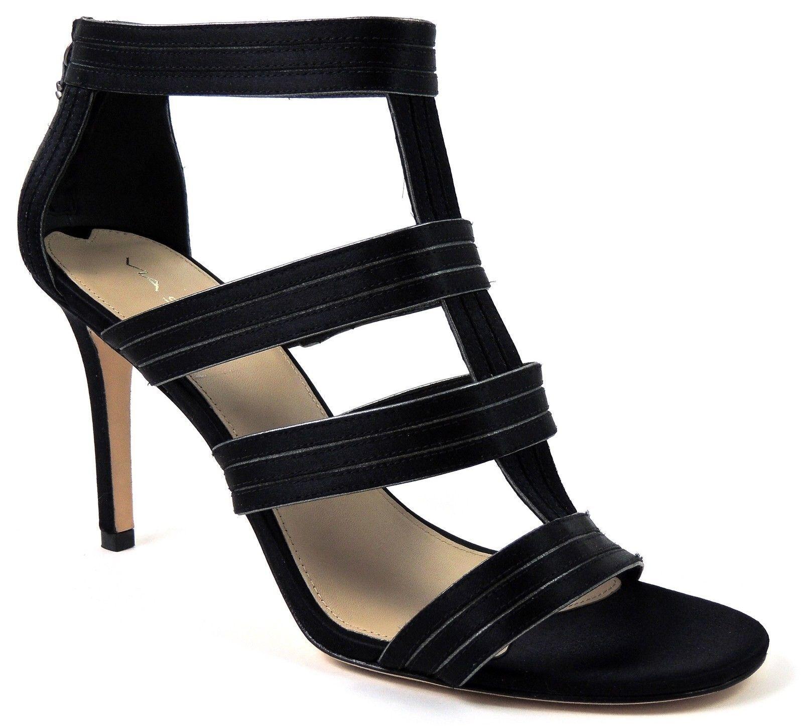 Via Spiga Mujer Melanie T-Strap Sandalias Granito Negro Tamaño 10 M