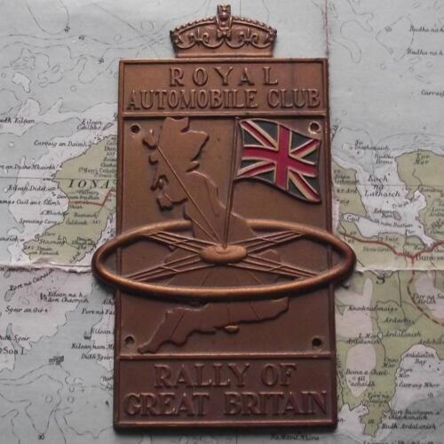Old Royal Automobile Club RAC Rally of Great Britain Car Badge