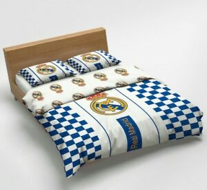 Funda Nordica Real Madrid Cama 90.Detalles De Funda Nordica Real Madrid 220x200 Cama 135 100 Algodon Fundas Almohada 70x80