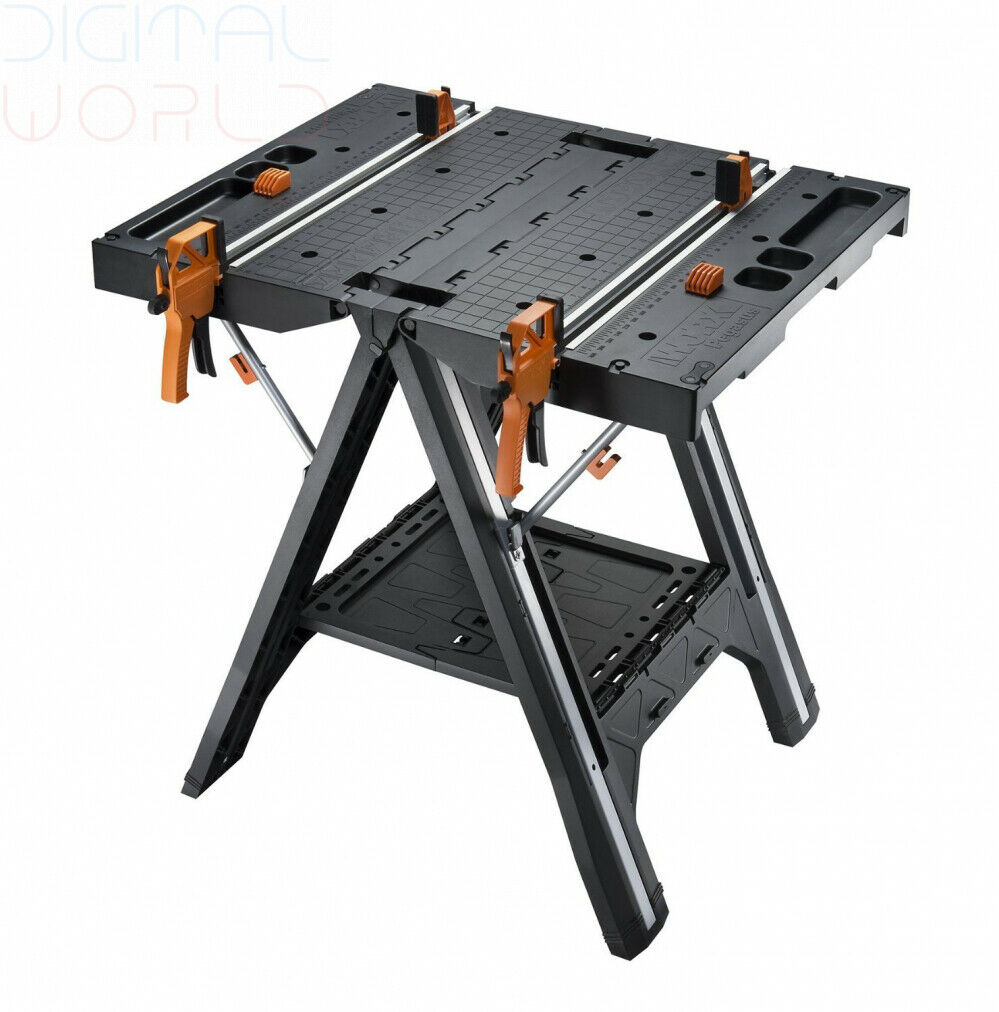 WORX WX051 Pegasus Multifunction Work Table and Sawhorse with Quick Clamps...