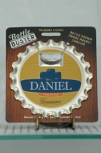 BOTTLE BUSTER DANIEL~COASTER~FRIDGE MAGNET~BOTTLE OPENER~NEW~FREE US SHIP~