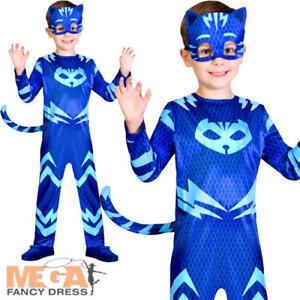 prestazioni superiori costruzione razionale brillantezza del colore Dettagli su Catboy Ragazzi Costume PJ maschere dei supereroi Animale  Bambini Cartoni Animati per Bambini Costume- mostra il titolo originale