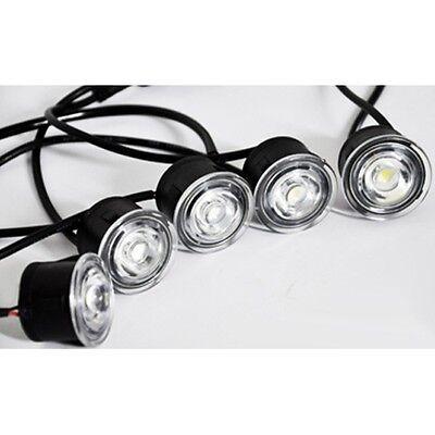 Runde 10x LED Tagfahrlicht Tagfahrleuchten Daylight 12V 24V Universal Flexibel