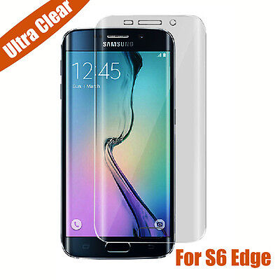 Curved Screen Full Cover Film Clear Screen Protector For Samsung Galaxy S6 Edge