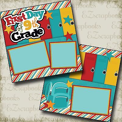 Premade Scrapbook Pages EZ Layout 2220 FIRST DAY 5TH GRADE