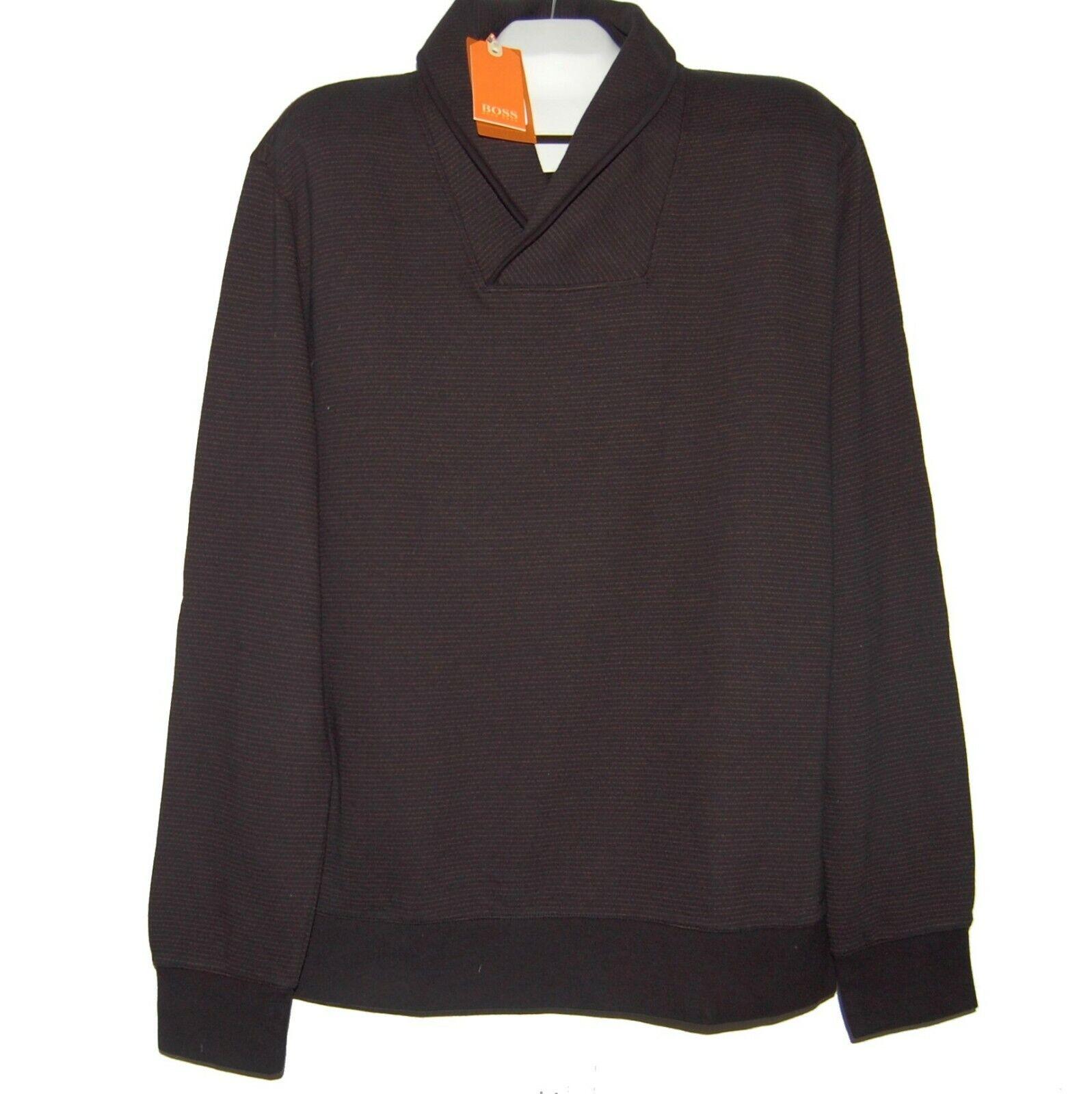 710457248 Hugo Boss Brown Stripes Men's Cotton Sweater Size 2XL NEW Polo Shirt ...