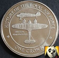 2008 GIBRALTAR 1 One Crown History of RAF Air Force BRISTOL BEAUFIGHTER Coin