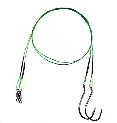 7x7 Wire Leader Stahlvorfach Spro 7x7 mit Wirbel und Einhänger Hecht 2 Stk