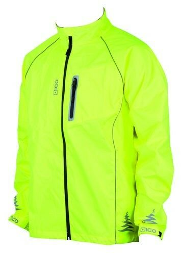 Eigo Hi-Vis Giallo Impermeabile Antivento Riflettente Ciclismo Camminata Giacca Cappotto Cappotto Cappotto 519de4