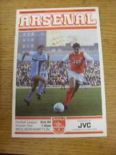 02/02/1982 Arsenal v Wolverhampton Wanderers  (Good Condition)