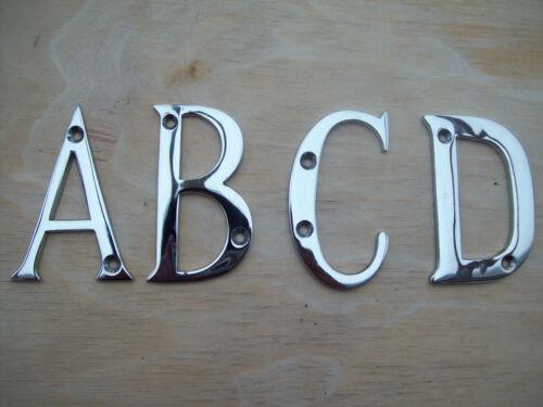 3  75mm en laiton massif avec placage chrome poli porte maison lettres alphabet