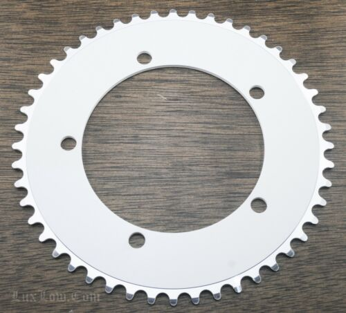 White 48t 130mm BCD CHAINRING Fixie Track Bike BMX Bicycle Fixed Gear Sprocket