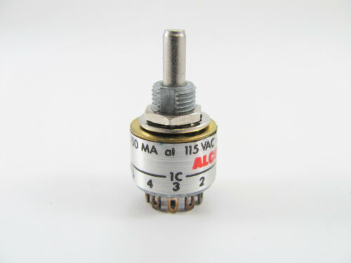 Alco MRS2-5 2-Pole Mini Rotary Switch 115VAC 150mA 2-5 Position
