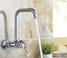 Wall Mounted Kitchen Sink Taps Wall mounted chrome brass kitchen sink faucet single handle hot cold item 2 wall mounted brass kitchen sink tap chrome faucet hot cold single handle mixer wall mounted brass kitchen sink tap chrome faucet hot cold single workwithnaturefo