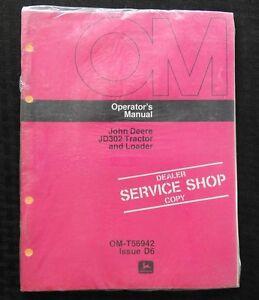 1976 JOHN DEERE 302 JD302 TRACTOR AND LOADER OPERATORS MANUAL MINT SEALED