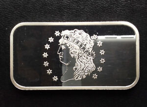 1972 Washington Mint Large Cent WM-46 Silver Art Bar A1271