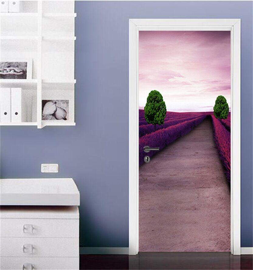 3D Lavendel 86 Tür Wandmalerei Wandaufkleber Wandaufkleber Wandaufkleber Aufkleber AJ WALLPAPER DE Kyra | New Style  | Ein Gleichgewicht zwischen Zähigkeit und Härte  |  79218b