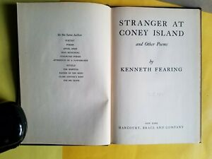 Details About Kenneth Fearing Stranger At Coney Island Other Poems 1st Ed 1948