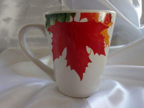 4 ROYAL NORFOLK AUTUMN FALLING MAPLE OAK LEAVES ACORNS COFFEE MUG CUP  NEW