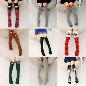 Baby Toddlers Girls Knee High Socks Tights Leg Warmer Stockings For Age 3-12