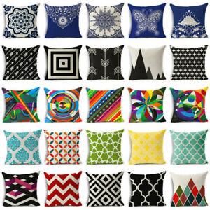 Vintage-Bohemian-geometry-cotton-linen-pillow-case-car-cushion-cover-home-Decor