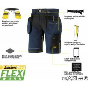 Snickers Workwear 3123 Craftsmen Shorts Rip-Stop SnickersDirect Grey Pre